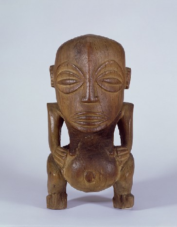 Male figure ('Fishermen's god'). Polynesia, Cook Islands, Rarotonga. Late 18th/early 19th century. h. 40.7 cm. UEA 189