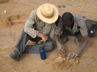 Archaeologists at work in Benin on the Crossroads of Empires project