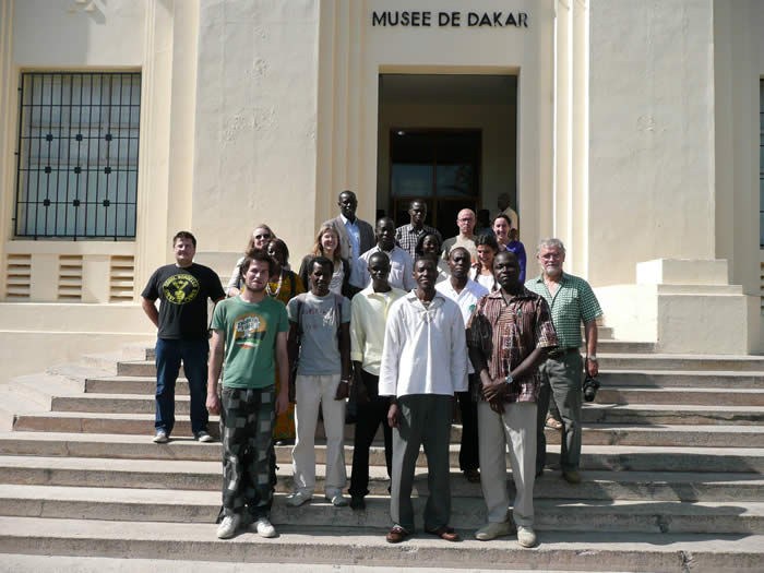 """Making a good impression"" participants on the steps of the Museum of African Art."
